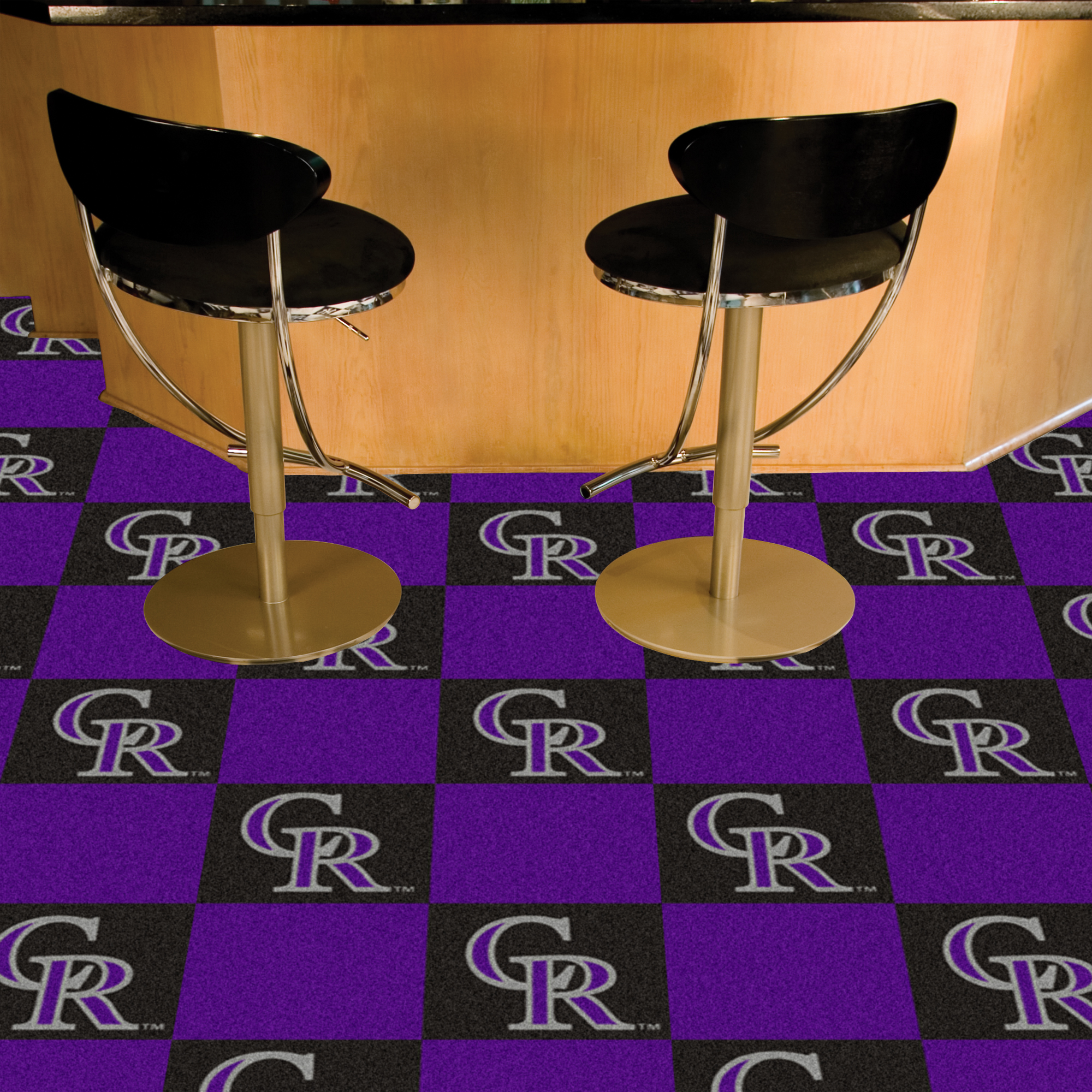 Colorado Rockies Carpet Tiles 18x18 in.