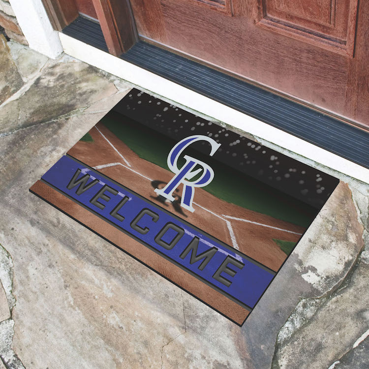 Colorado Rockies Recycled Crumb Rubber Door Mat
