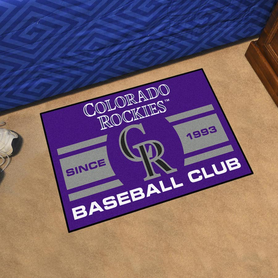 Colorado Rockies 20 x 30 Uniform STARTER Floor Mat