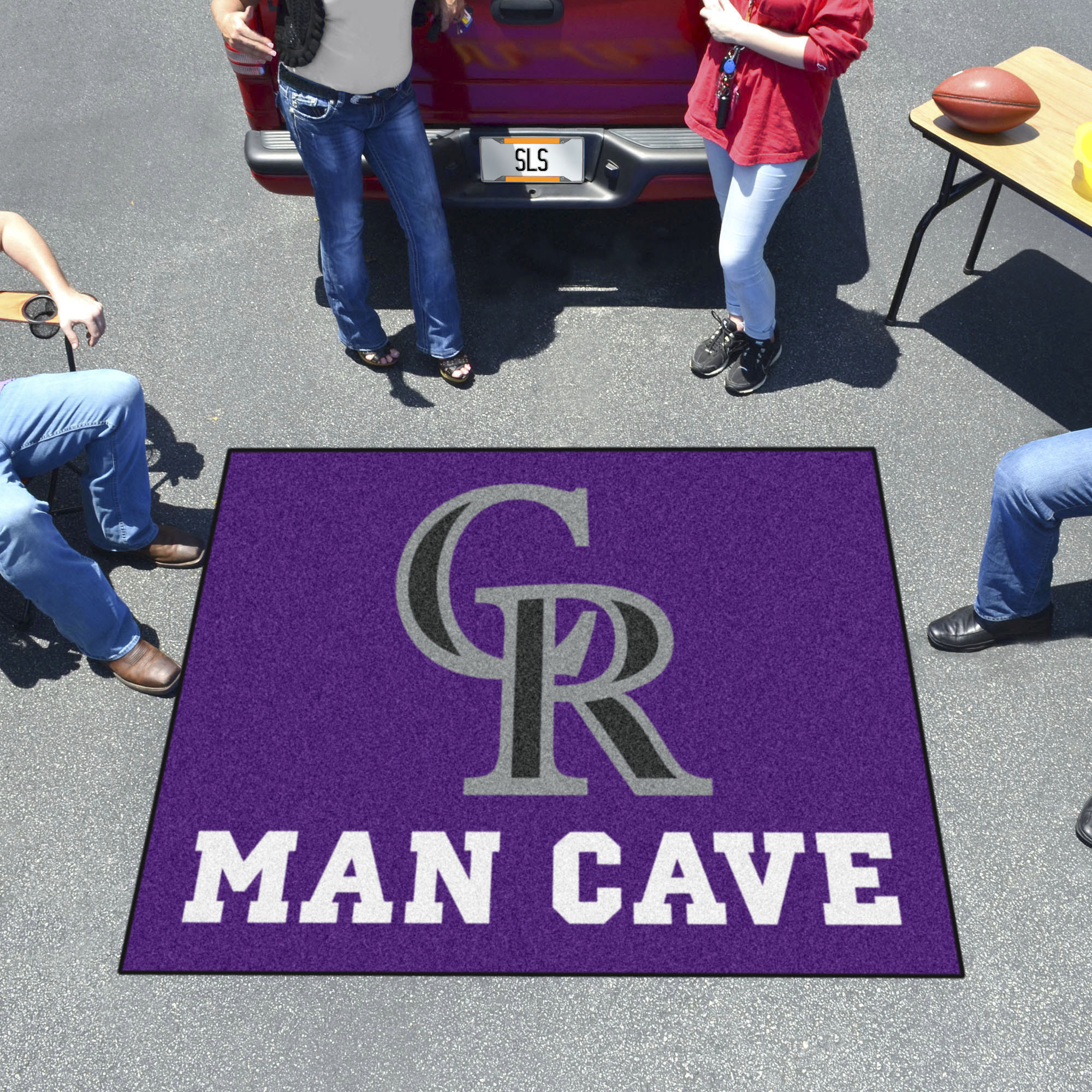 Colorado Rockies MAN CAVE TAILGATER 60 x 72 Rug