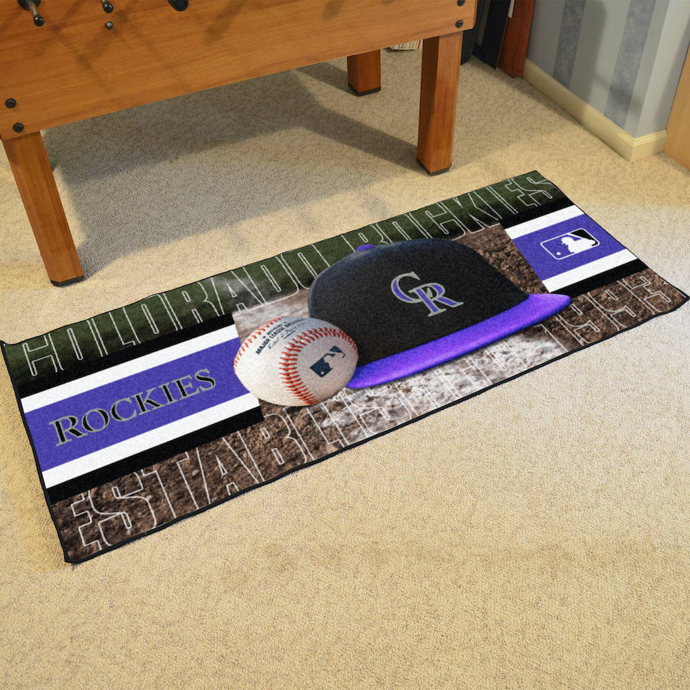 Colorado Rockies 30 x 72 Baseball Carpet Runner