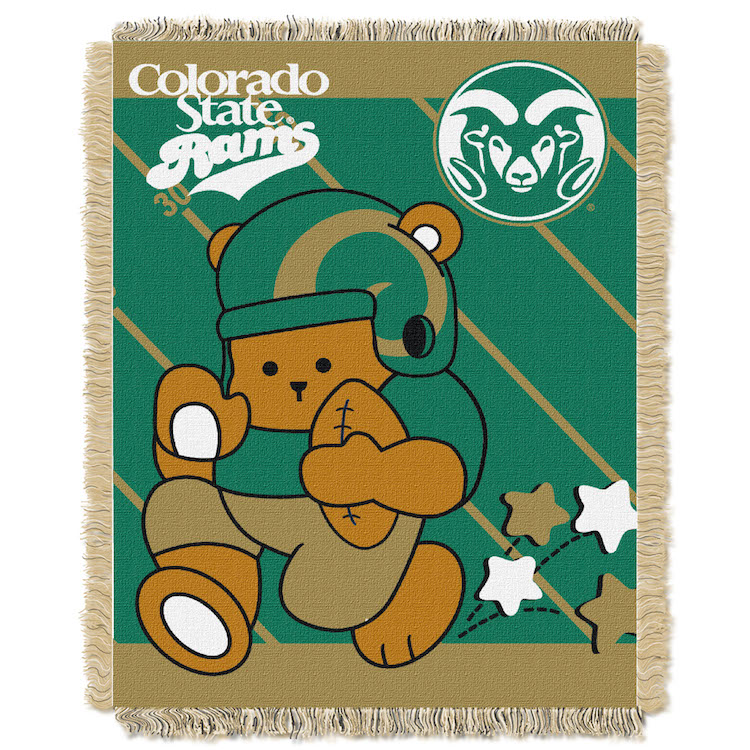Colorado State Rams Woven Baby Blanket 36 x 48
