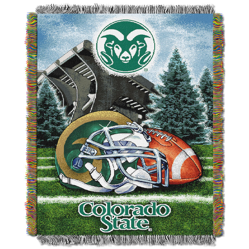 Colorado State Rams Home Field Advantage Series Tapestry Blanket 48 x 60