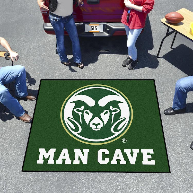 Colorado State Rams MAN CAVE TAILGATER 60 x 72 Rug