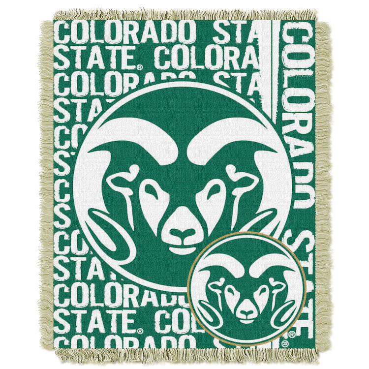Colorado State Rams Double Play Tapestry Blanket 48 x 60
