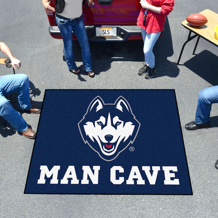 Connecticut Huskies MAN CAVE TAILGATER 60 x 72 Rug