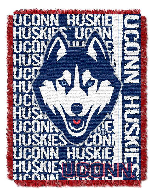 Connecticut Huskies Double Play Tapestry Blanket 48 x 60