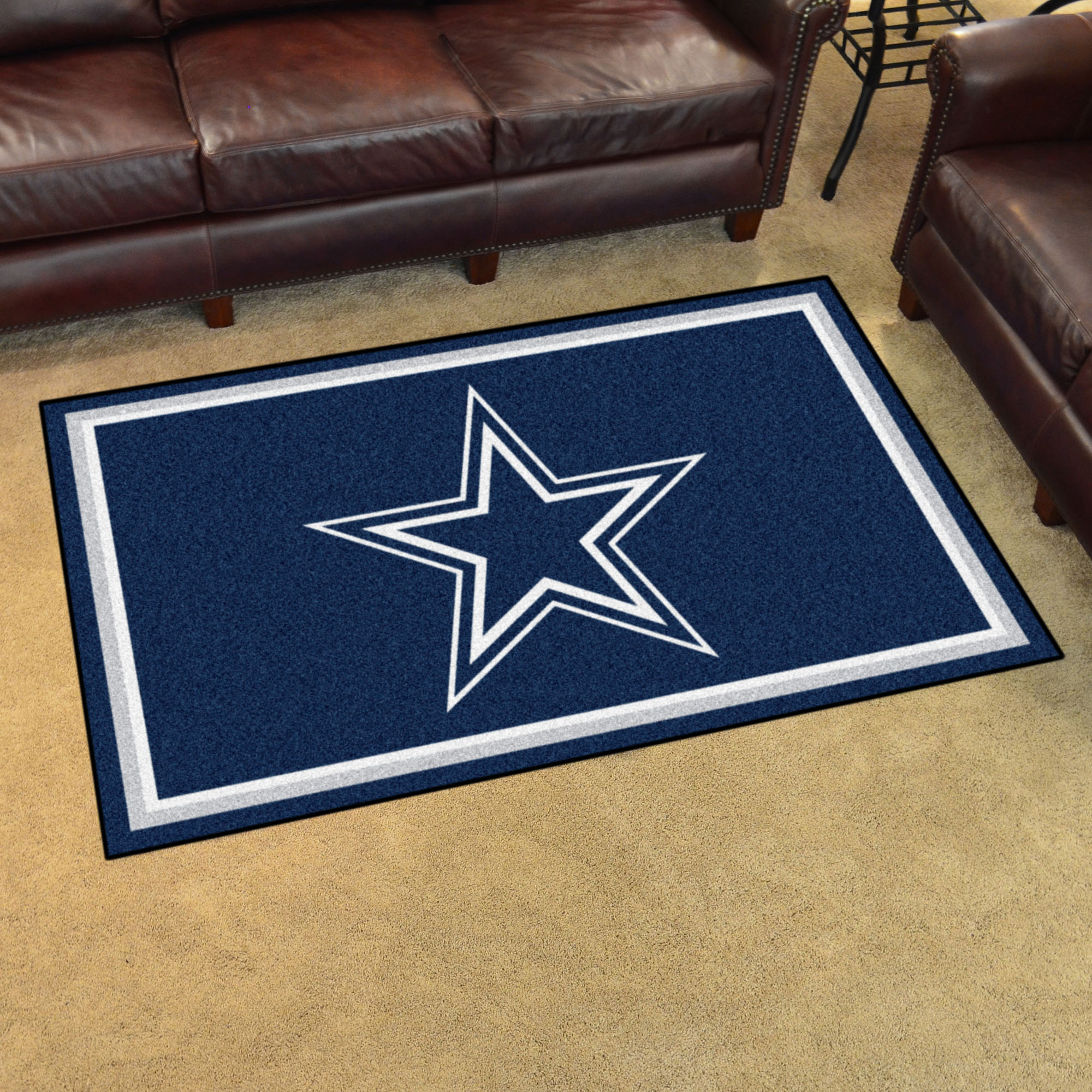 Dallas Cowboys 4x6 Area Rug Buy At Khc Sports
