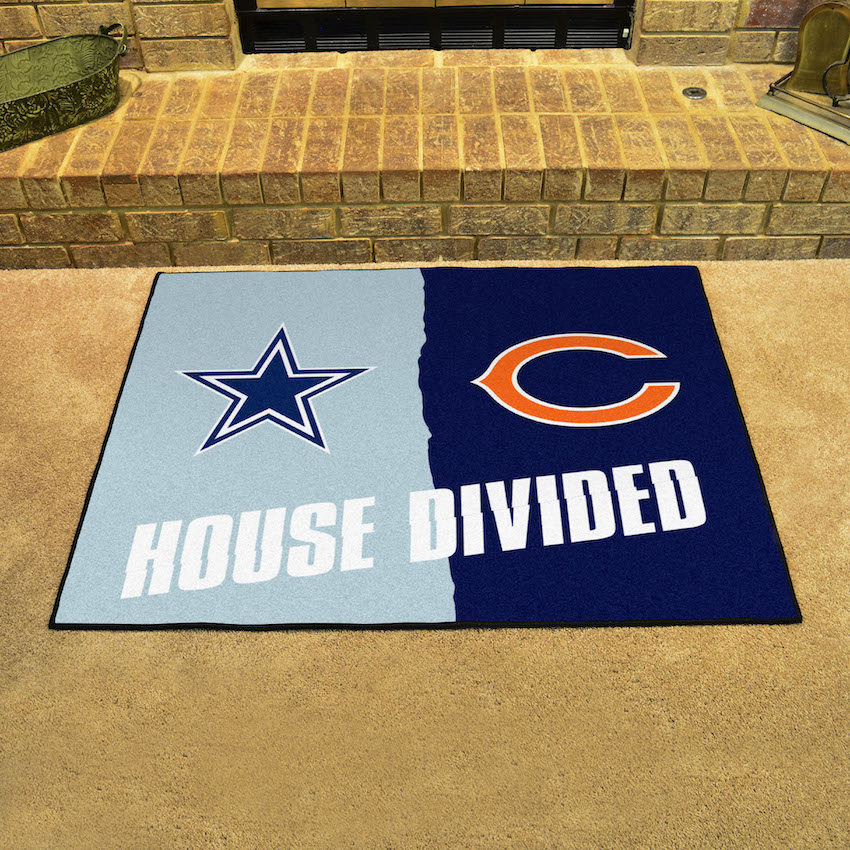 NFL House Divided Rivalry Rug Dallas Cowboys - Chicago Bears