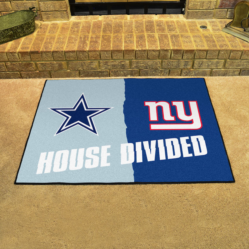 NFL House Divided Rivalry Rug Dallas Cowboys - New York Giants