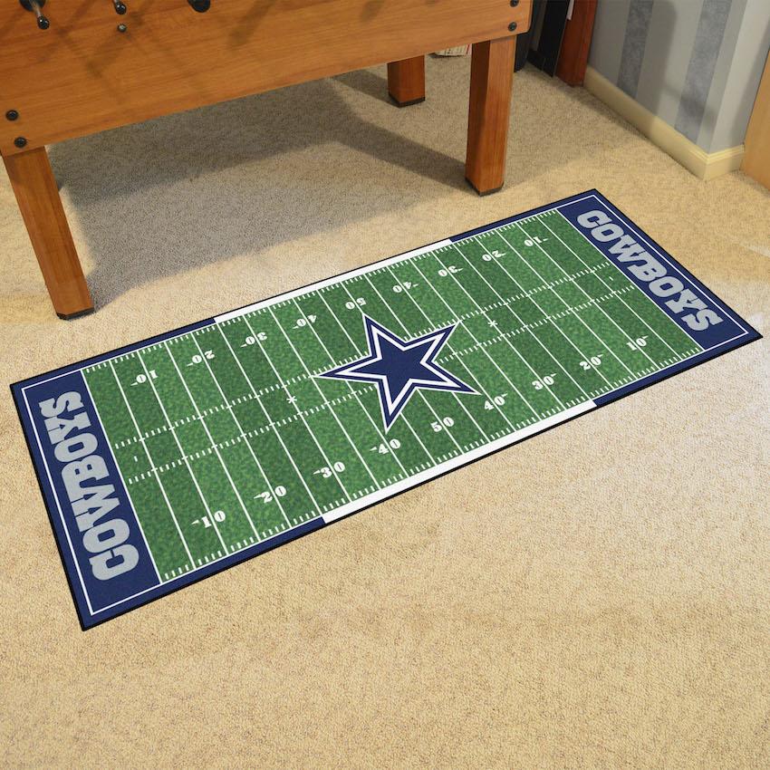 Dallas Cowboys Football Field Runner 30 X 72 Floor Mat