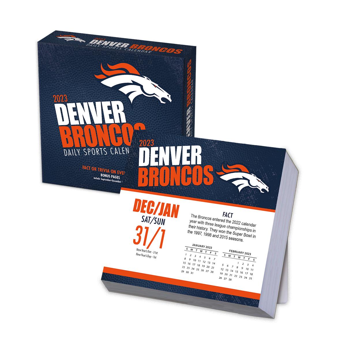 Denver Broncos 2018 Nfl Page A Day Box Calendar Buy At