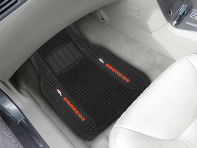 Denver Broncos Deluxe 20 x 27 Car Floor Mats