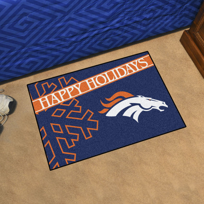 Denver Broncos Holiday Floor Mat