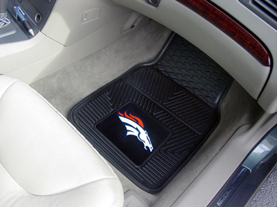 Denver Broncos Car Floor Mats 18 x 27 Heavy Duty Vinyl Pair