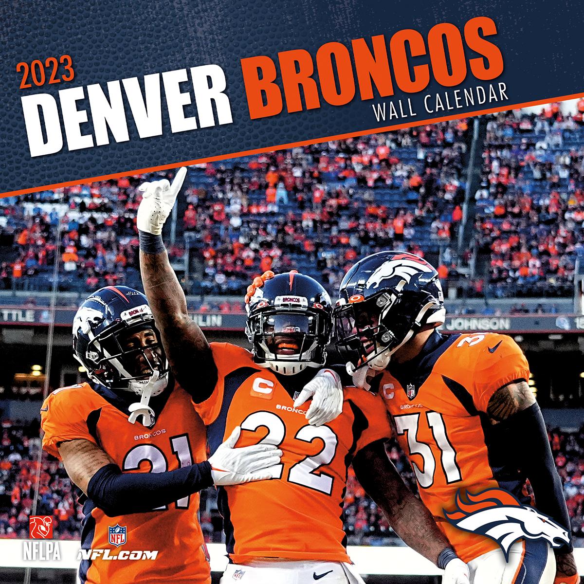Denver Broncos 2018 Nfl Wall Calendar Buy At Khc Sports