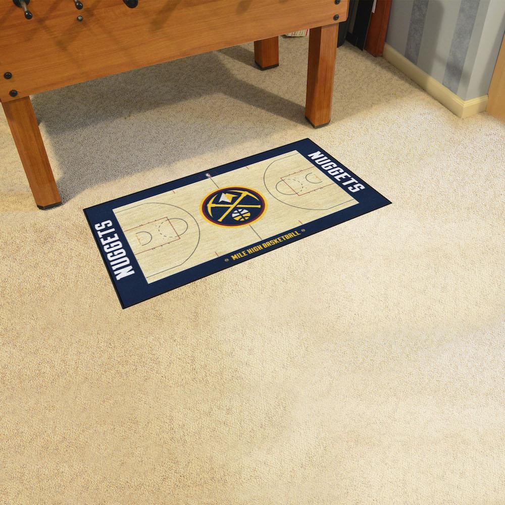 Denver Nuggets Court: Denver Nuggets 24 X 44 Basketball Court Carpet Runner