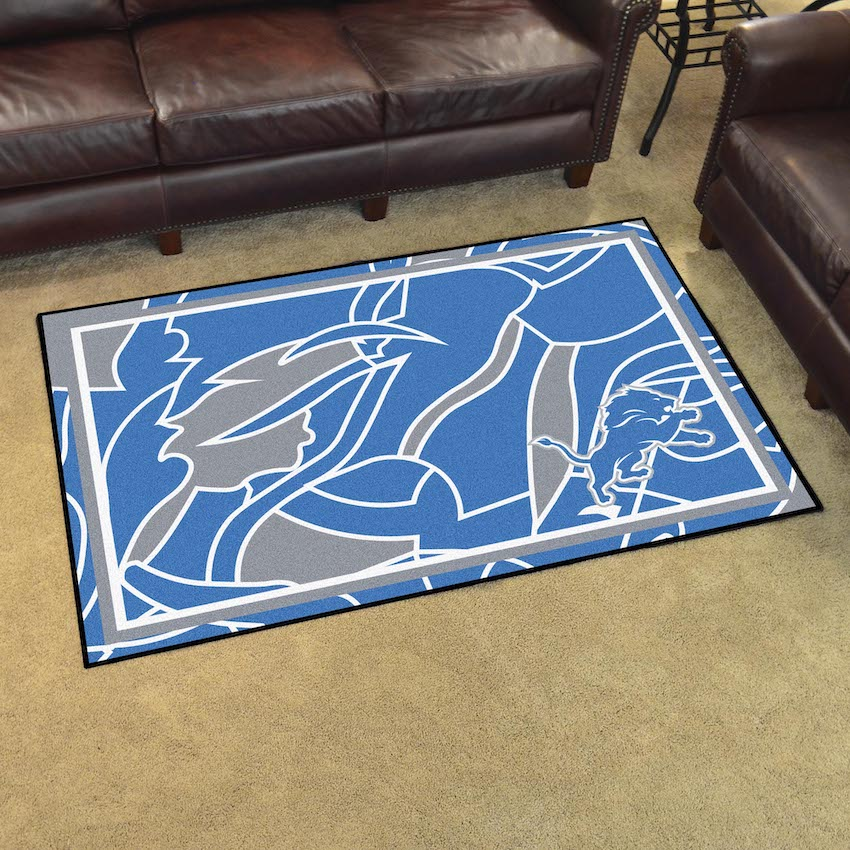 Fanmats Seattle Seahawks 3 Ft X 6 Ft Football Field: Detroit Lions 4x6 Quick Snap Area Rug