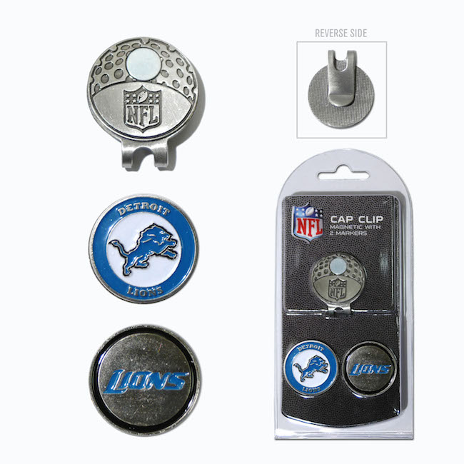Detroit Lions Hat Clip With 2 Ball Markers