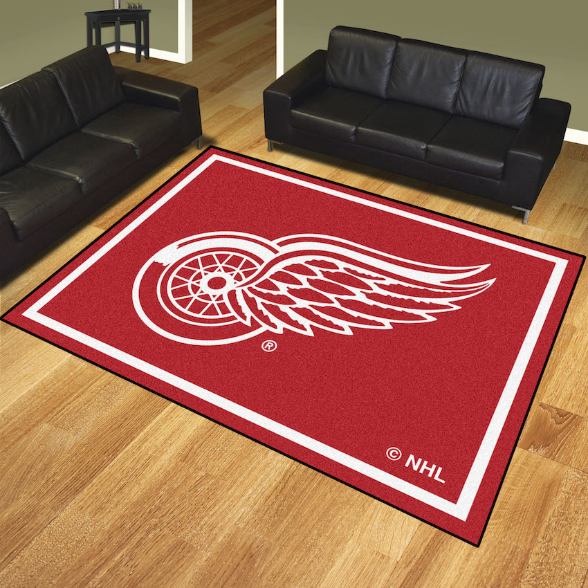 Detroit Red Wings Ultra Plush 8x10 Area Rug Buy At Khc