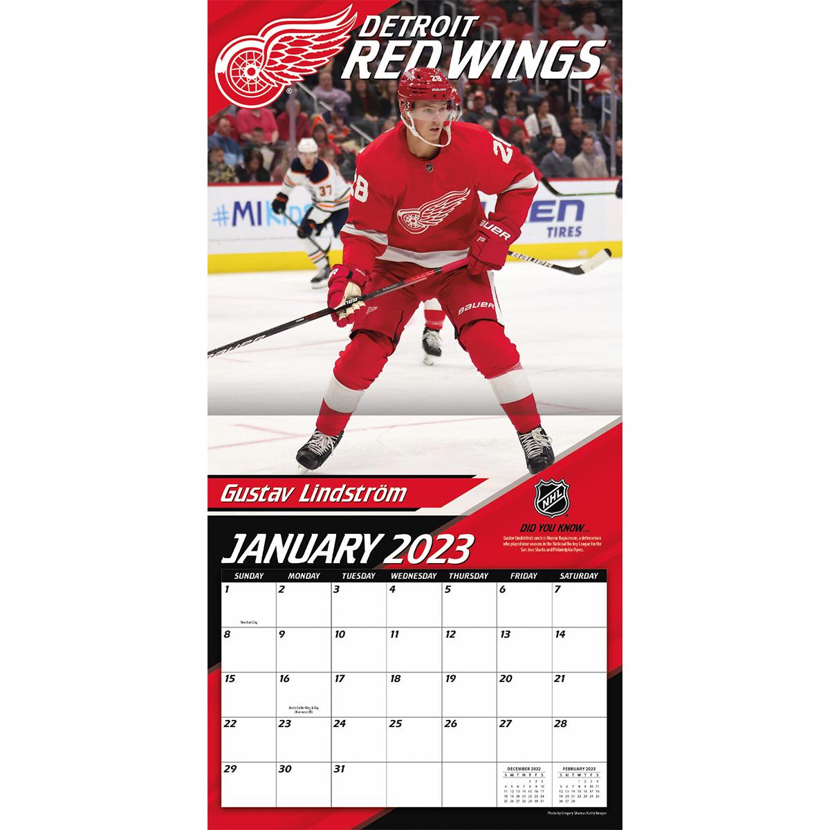 Detroit Red Wings 2018 Mini Wall Calendar Buy At Khc Sports