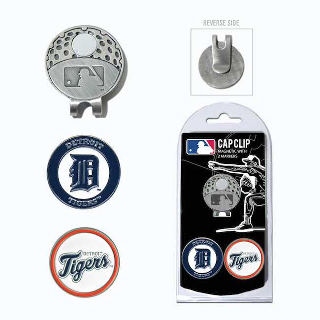 Detroit Tigers Hat Clip With 2 Ball Markers