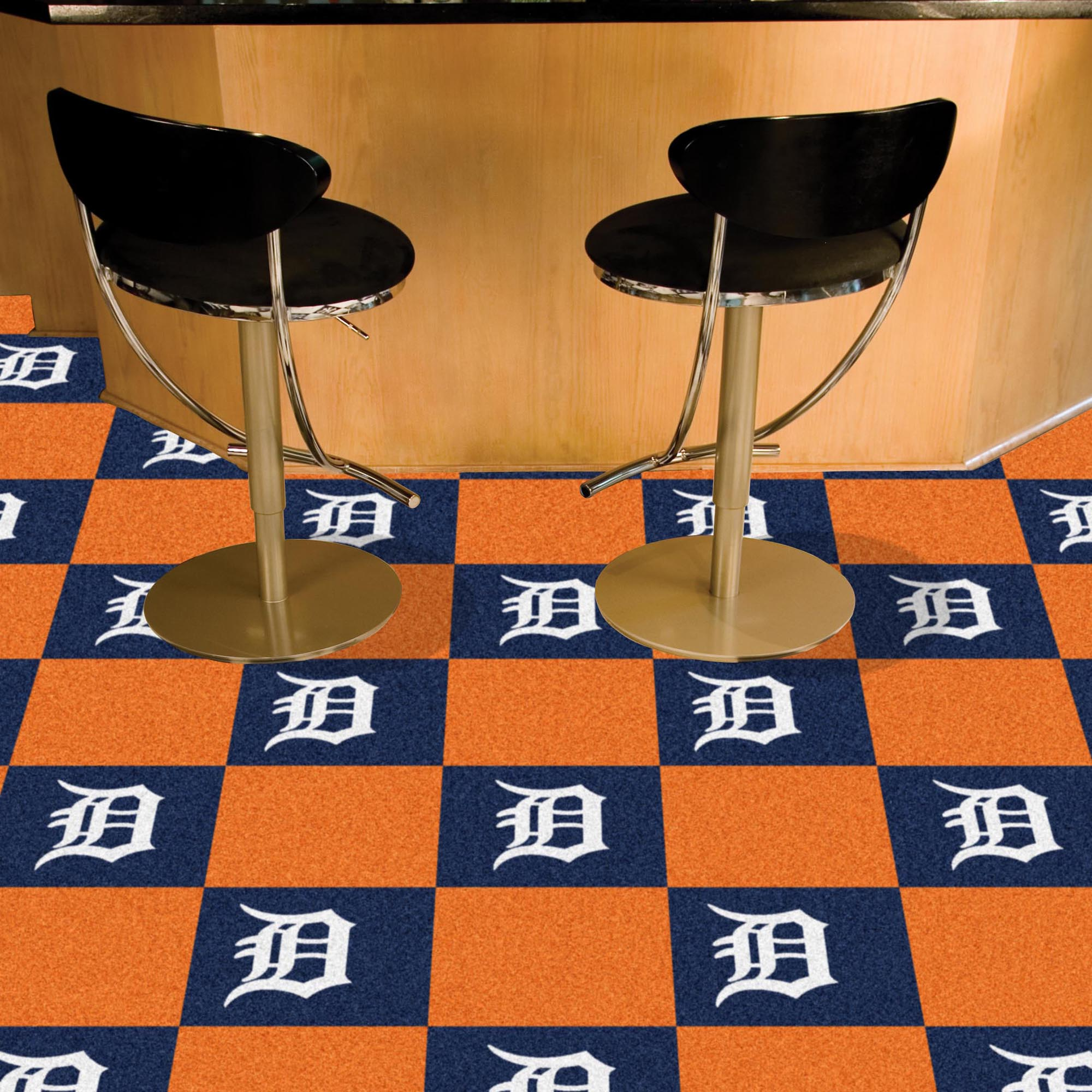 Detroit Tigers Carpet Tiles 18x18 in.