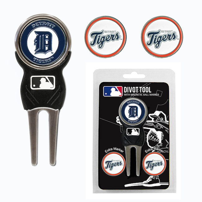 Detroit Tigers 3 Marker Signature Divot Tool Pack