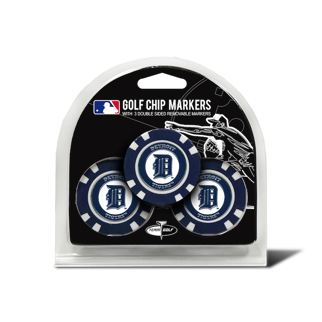 Detroit Tigers 3 Pack Golf Chips