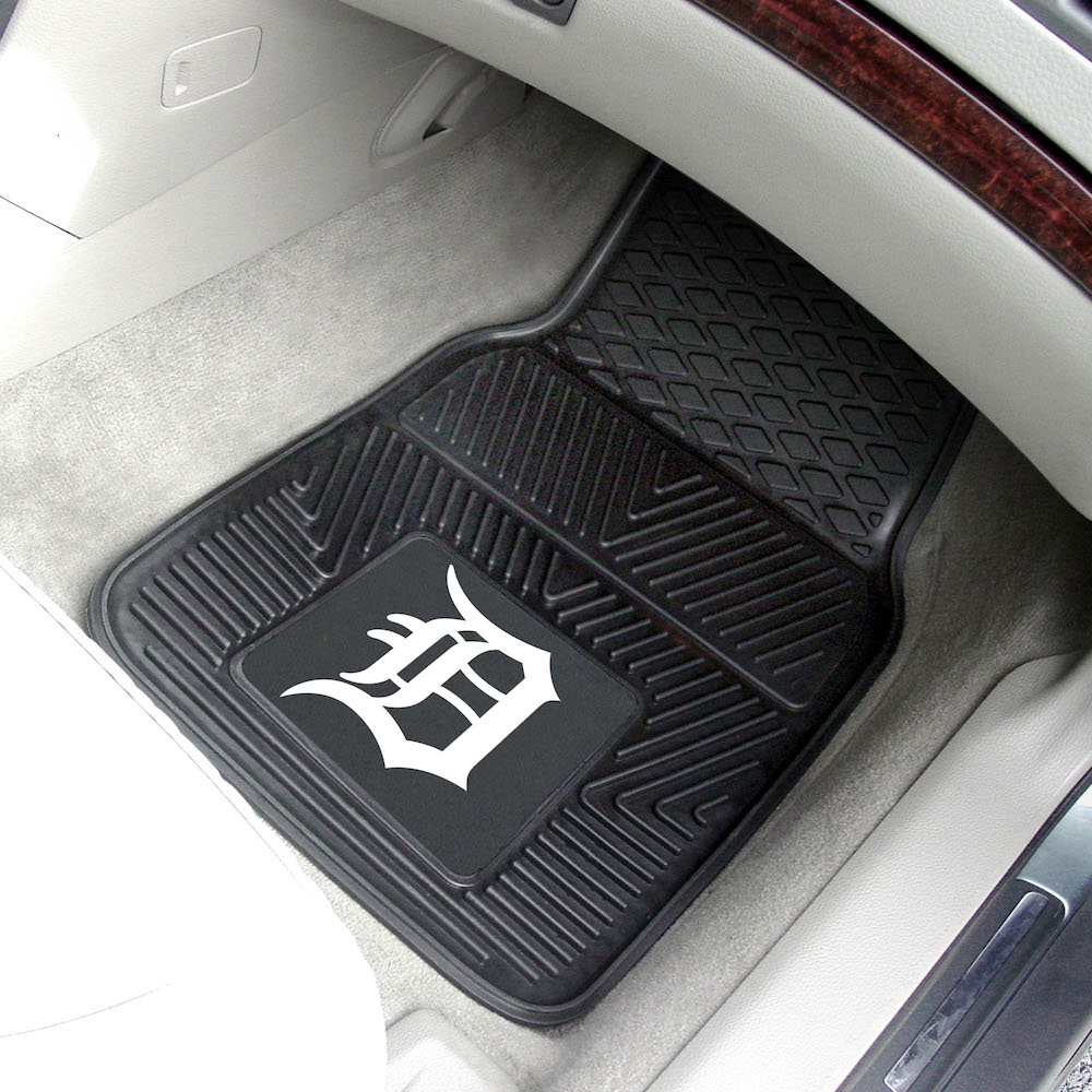 Detroit Tigers Car Floor Mats 18 x 27 Heavy Duty Vinyl Pair