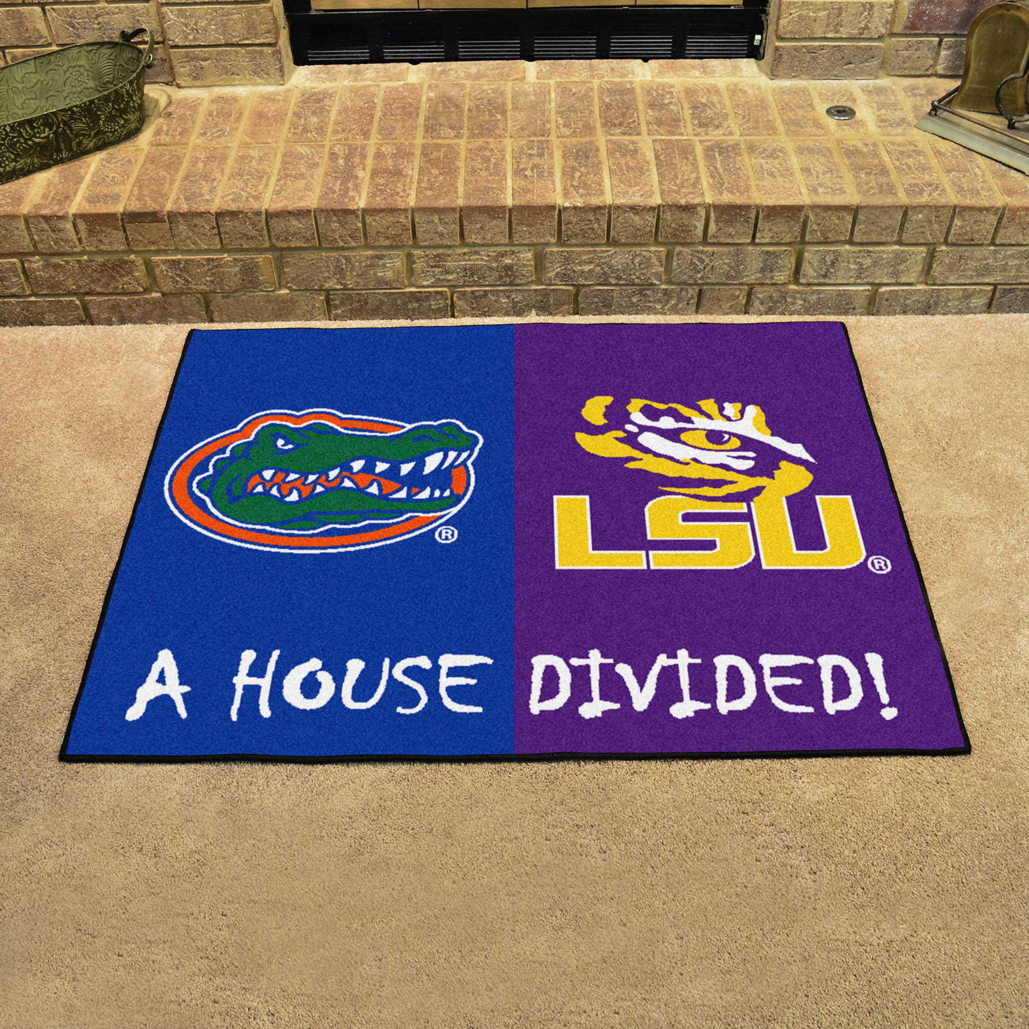 NCAA House Divided Rivalry Rug Florida Gators - LSU Tigers
