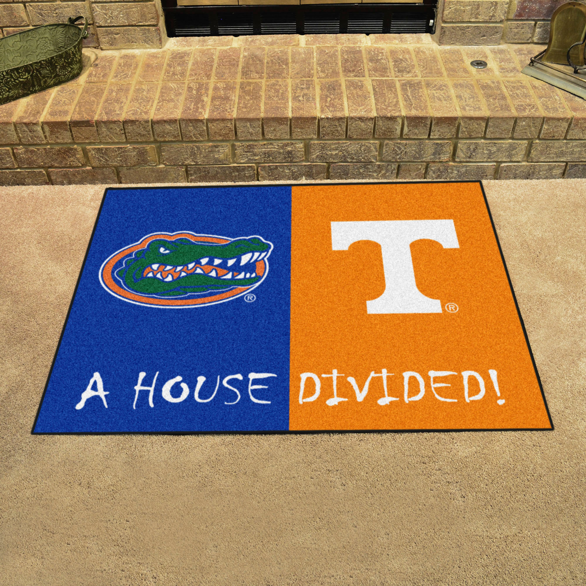 NCAA House Divided Rivalry Rug Florida Gators - Tennessee Volunteers