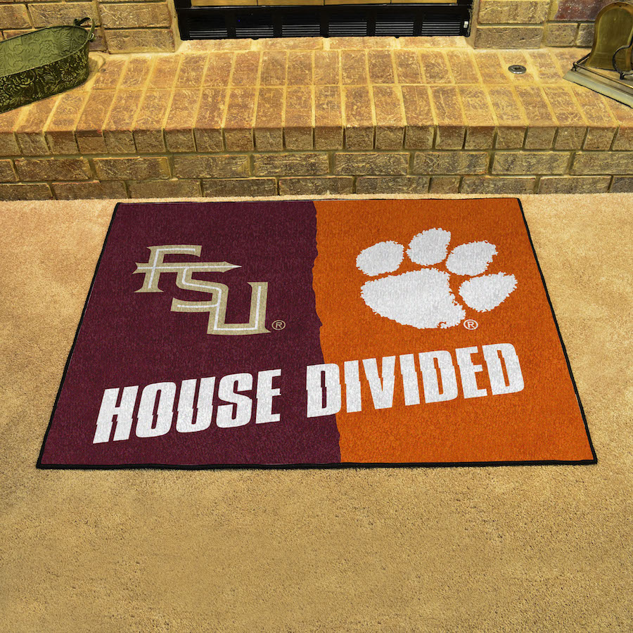 Ncaa House Divided Rivalry Rug Florida State Seminoles