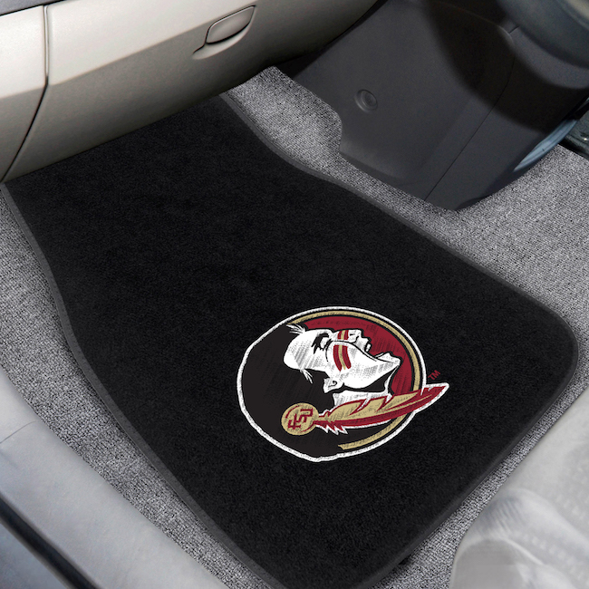 Florida State Seminoles Car Floor Mats 17 x 26 Embroidered Pair