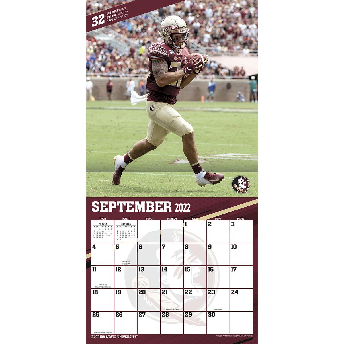 Florida State Seminoles 2018 Wall Calendar Buy At Khc Sports