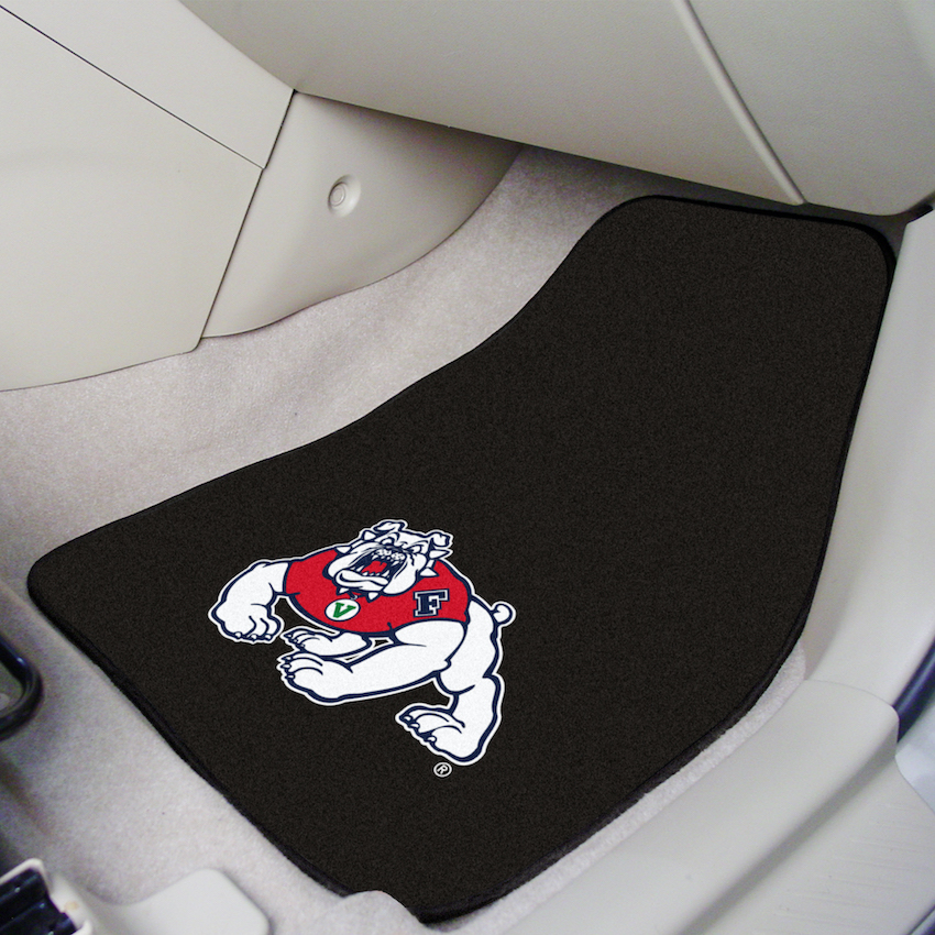 Fresno State Bulldogs BLACK Car Floor Mats 18 x 27 Carpeted-Pair