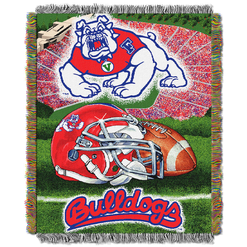 Fresno State Bulldogs Home Field Advantage Series Tapestry Blanket 48 x 60