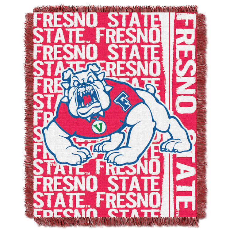 Fresno State Bulldogs Double Play Tapestry Blanket 48 x 60