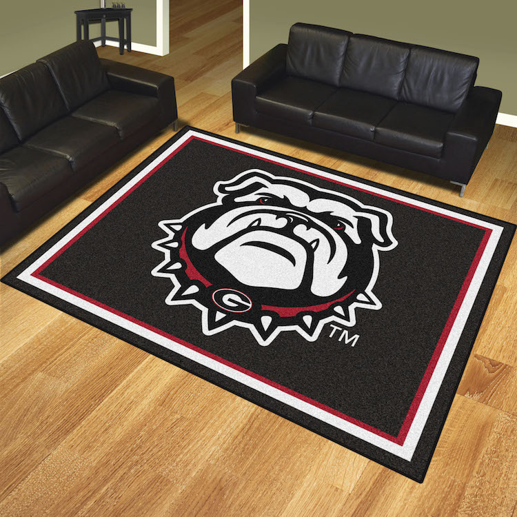 Georgia Bulldog UGA Ultra Plush 8x10 Area Rug