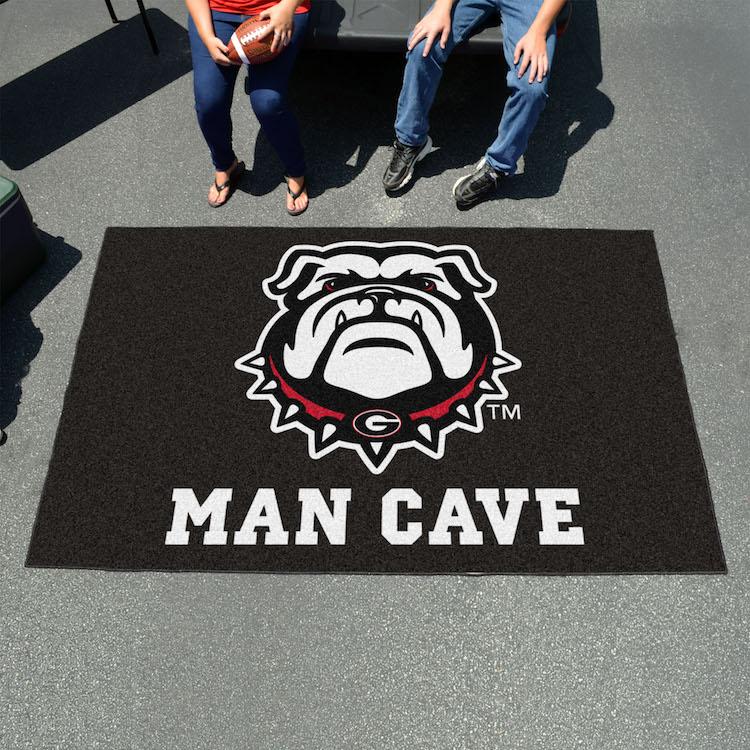 Man Cave Vs Bulldog : Georgia bulldog uga utili mat man cave rug buy