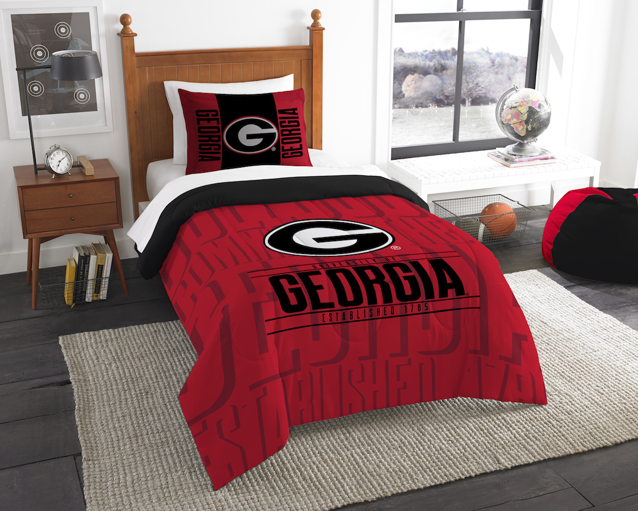 Georgia Bulldogs Twin Comforter Set with Sham