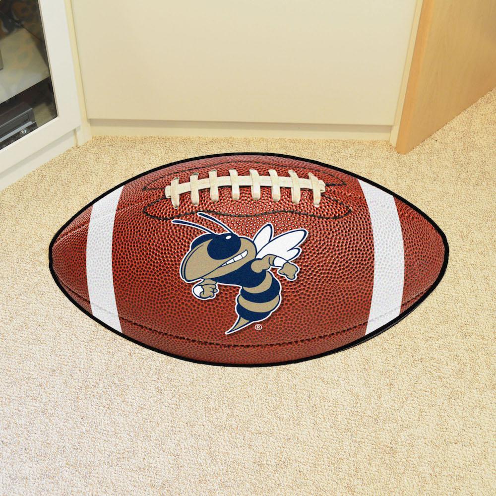 Georgia Tech YELLOW JACKET LOGO Football Floor Mat