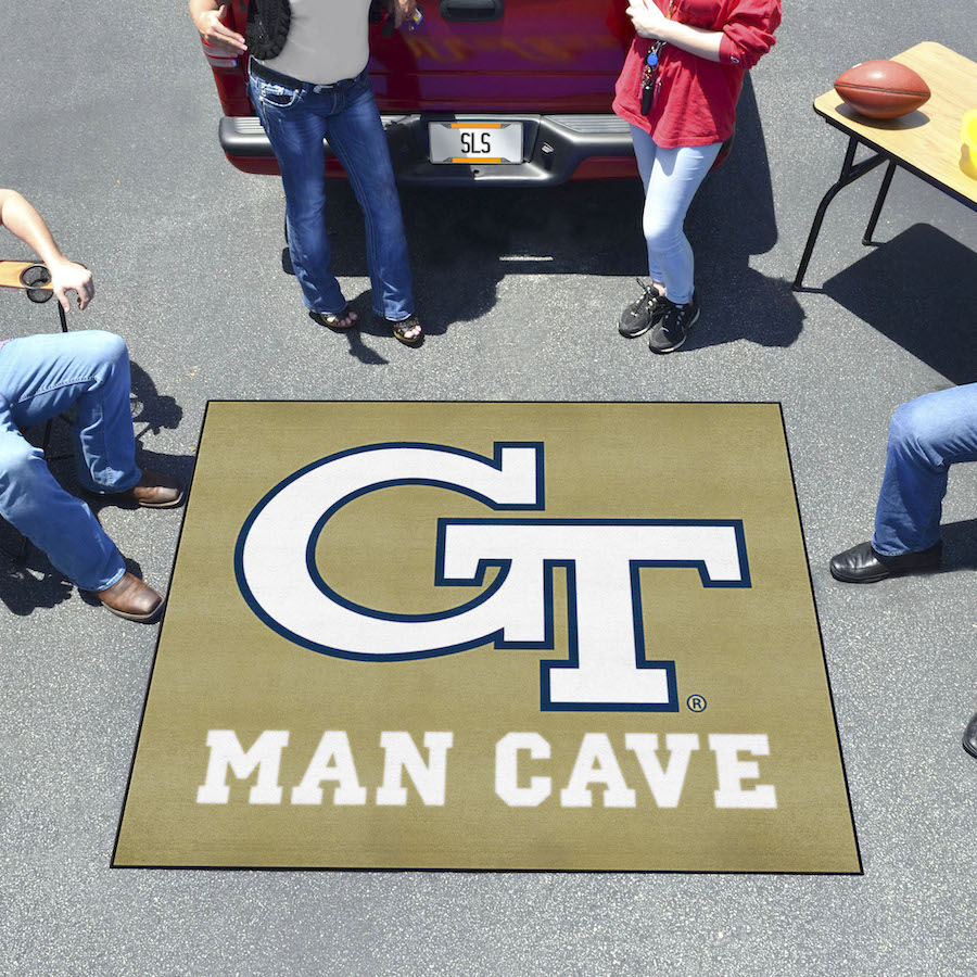 Georgia Tech Yellow Jackets MAN CAVE TAILGATER 60 x 72 Rug