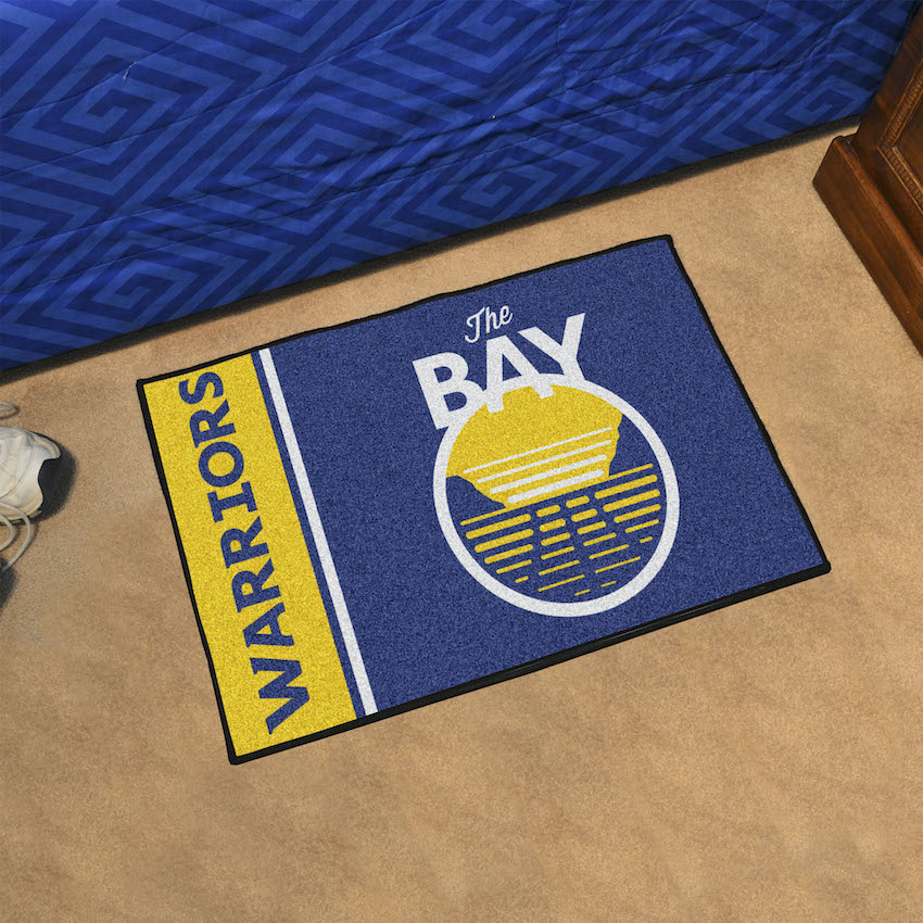 Golden State Warriors 20 X 30 Uniform Inspired Starter Rug