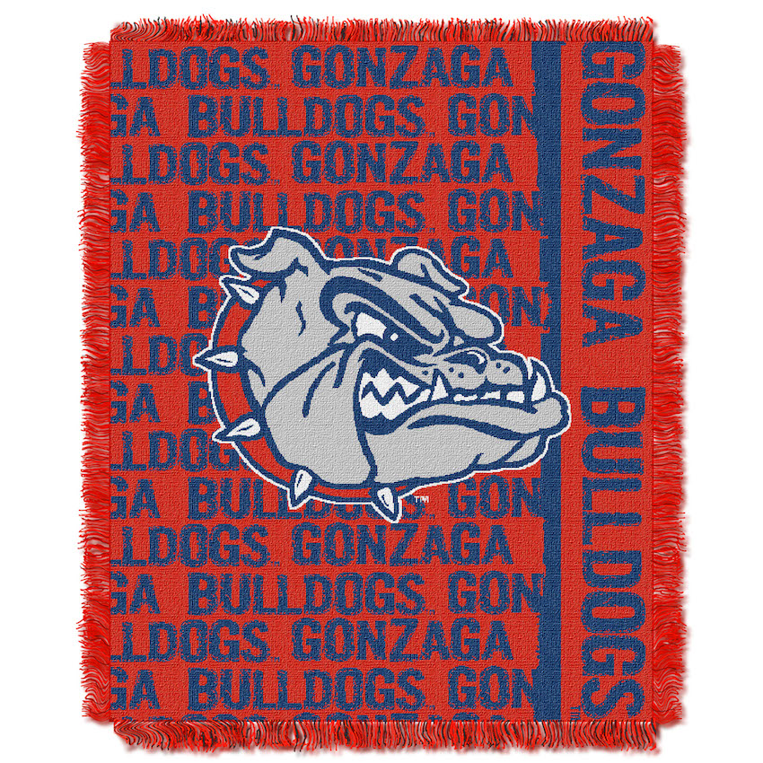 Gonzaga Bulldogs Double Play Tapestry Blanket 48 x 60