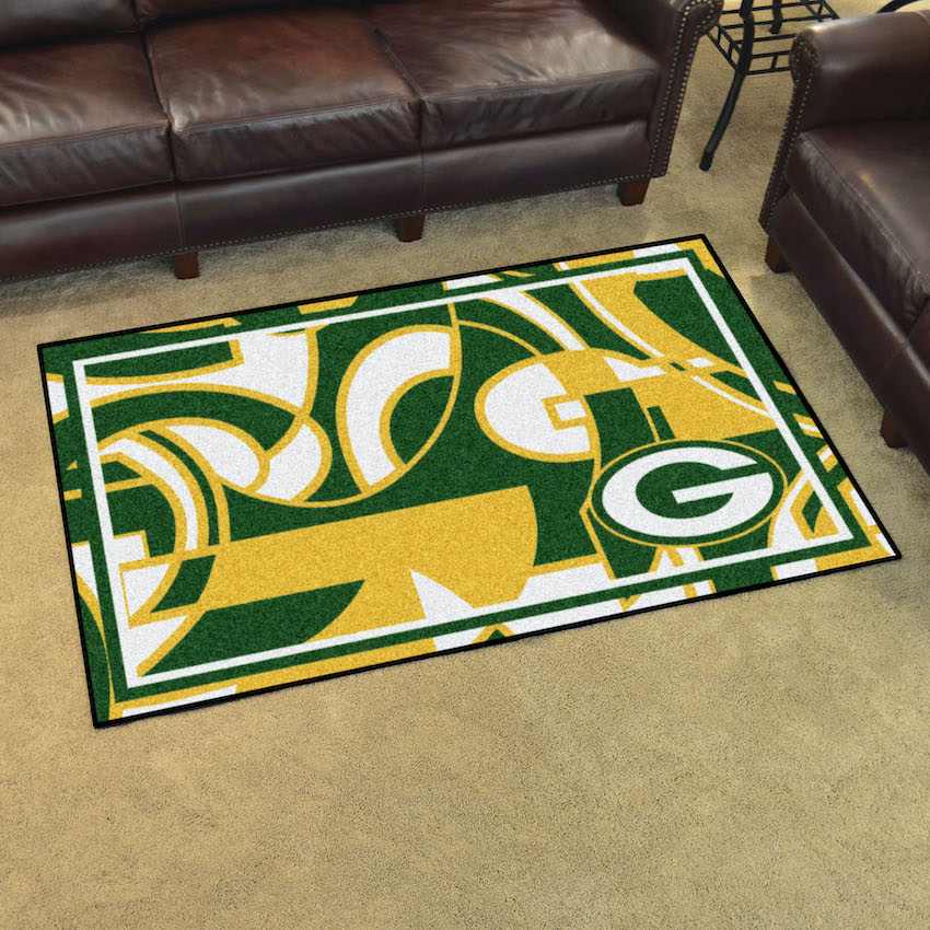 Green Bay Packers 4x6 Quick Snap Area Rug