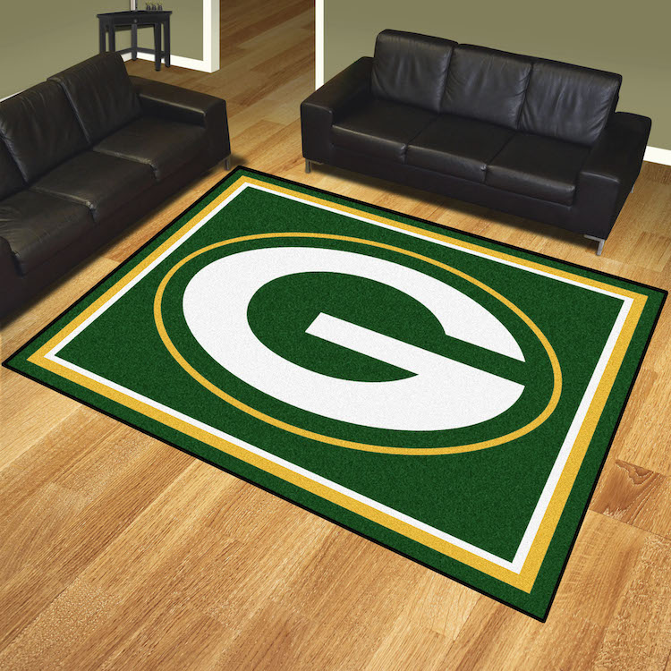 Green Bay Packers Ultra Plush 8x10 Area Rug