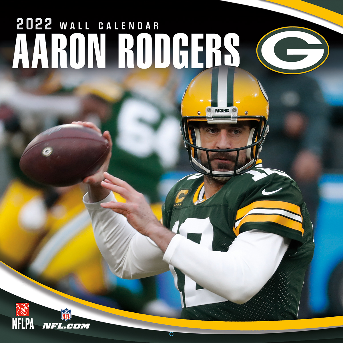 Green Bay Packers Aaron Rodgers 2019 NFL Wall Calendar
