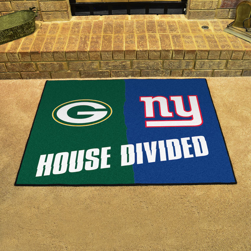 NFL House Divided Rivalry Rug Green Bay Packers - New York Giants