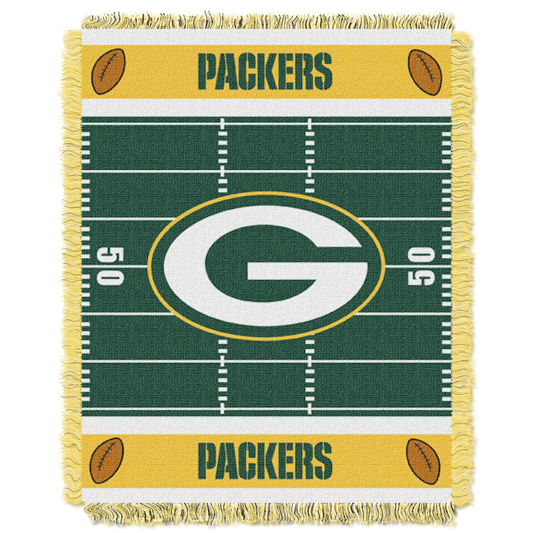 Green Bay Packers Woven Baby Blanket 36 x 48